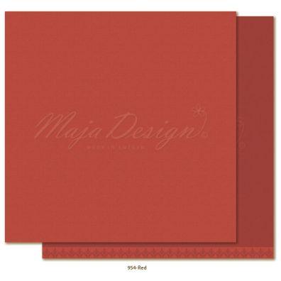 Monochromes - Shades of Winterdays Red Mønsterpapir fra Maja Design