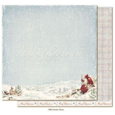 Joyous Winterdays Santa Claus - Mønsterpapir fra Maja Design