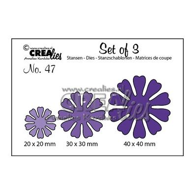Crealies Set of 3 - Blomster