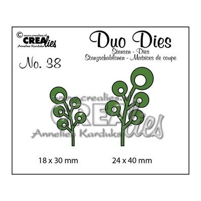 Crealies Duo Dies - Grene med bobler