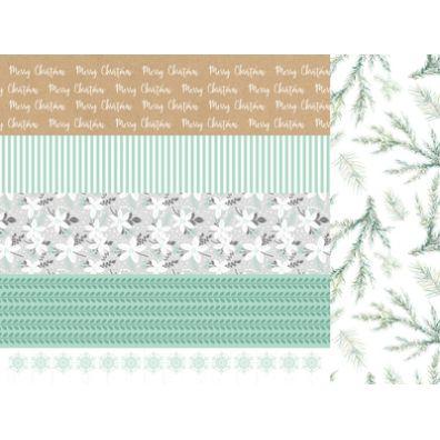 Mint Wishes - Shiver mønsterpapir fra KaiserCraft