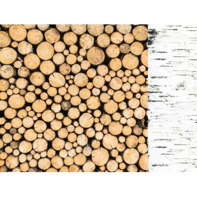 Mint Wishes - Logs mønsterpapir fra KaiserCraft