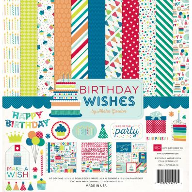 Echo Park Birthday Wishes Boy Collection Kit