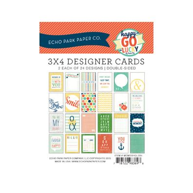 Echo Park Happy Go Lucky 3x4 Designer Cards