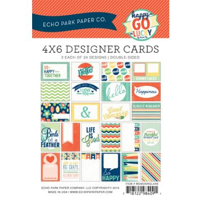 Echo Park Happy Go Lucky 4x6 Designer Cards