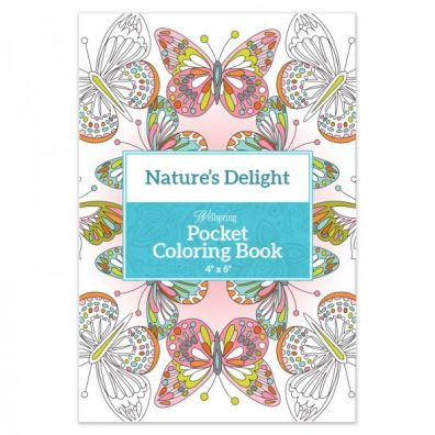 Wellspring Pocket Coloring Book - Nature's Delight