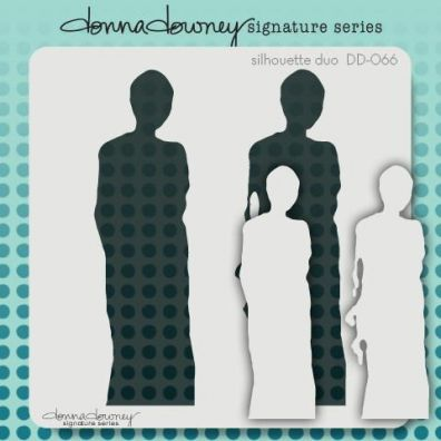 Donna Downey Signature Stencils - Silhouette Duo