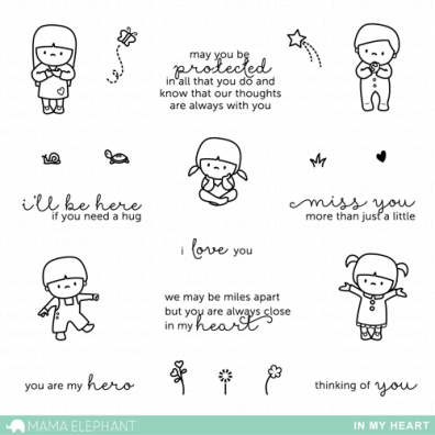 Mama Elephant Clear Stamps - In My Heart