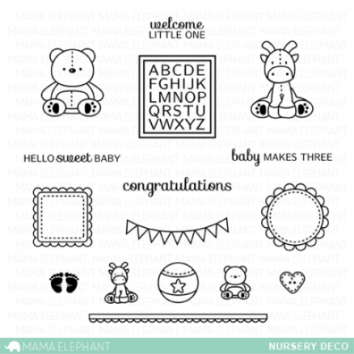 Mama Elephant Clear stamps - Nursery Deco