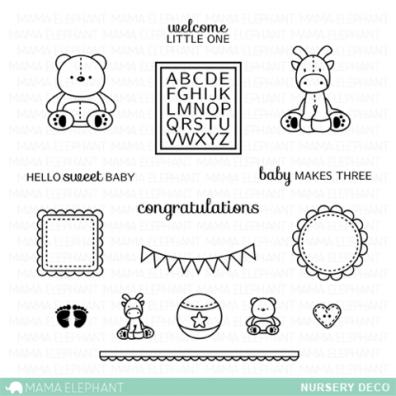 Mama Elephant Clear stamps - Nursery Deco