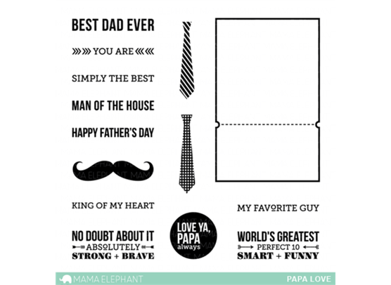 Mama Elephant Clear stamps - Papa Love