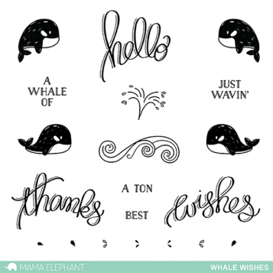 Mama Elephant Clear stamps - Whale Wishes