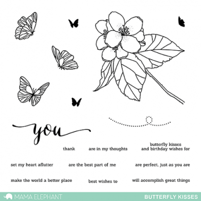 Mama Elephant Clear Stamps -– Butterfly Kisses