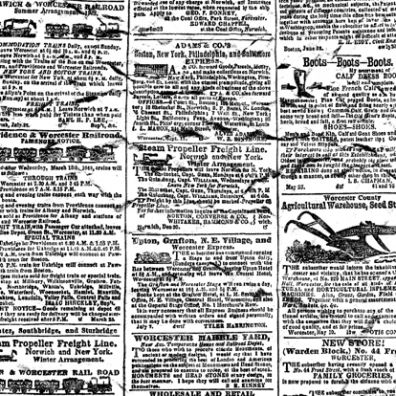 Cover a Card - Newsprint