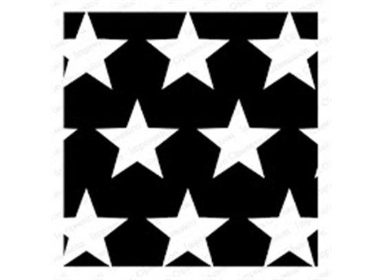 Impression Obsession Cover A Card baggrundsstempel - Big Stars