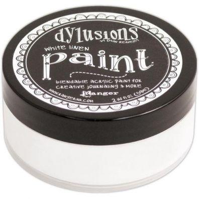 Dylusions Paint - White Linen