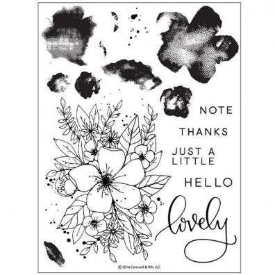 Concord & 9th Hello Lovely Clear Stamp Set