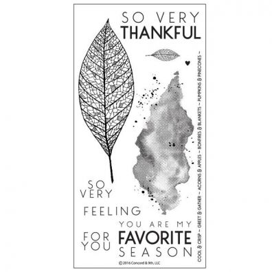 Concord & 9th Lace Leaf Clear Stamp Set