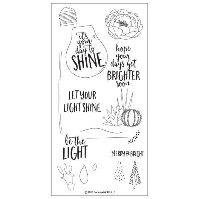 Concord & 9th Shine Brighter Clear Stamp Set