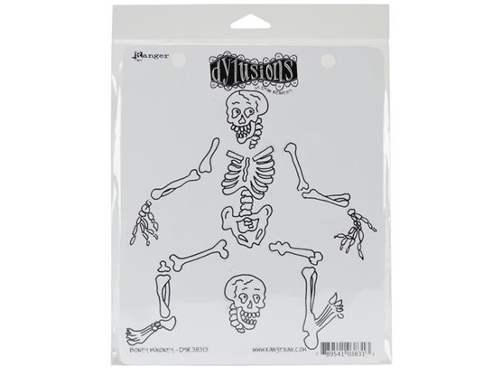 Dylusions Cling Stamps - Boney Maloney