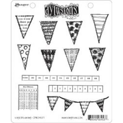 Dylusions Cling Stamps - Bags of Bunting