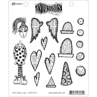 Dylusions Cling Stamps - Love Struck Lucy