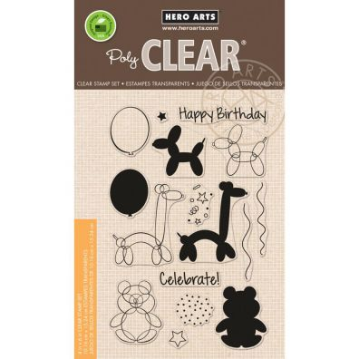Hero Arts Clear Stamp - Ballon Animal Birthday