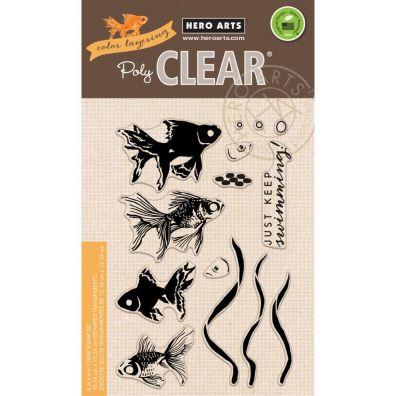 Hero Arts Clear Stamp - Color Layering Large Goldfish