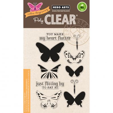 Hero Arts Clear Stamp - Color Layering Butterflies