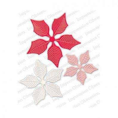Impression Obsession Die - Lg. Poinsettia Set