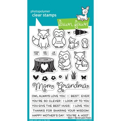 Lawn Fawn Mom + Me Clear stamp