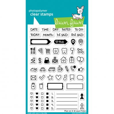 Lawn Fawn Plan on It Clear stamp