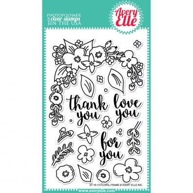 Avery Elle Clear Stamp - Floral Frame