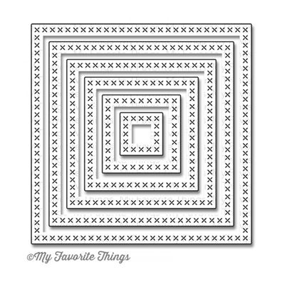 My Favorite Things Dies Cross-Stitched Square STAX