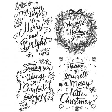 Tim Holtz Cling Stamps –- Doodle Greetings 1