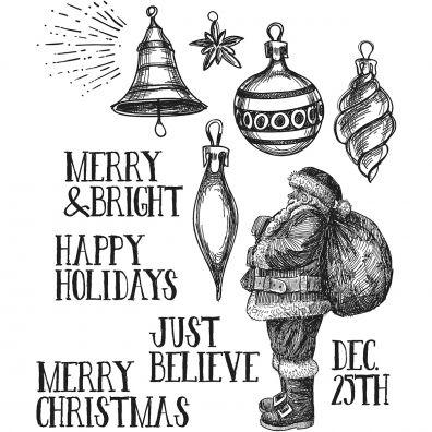 Tim Holtz Cling Stamps –- Festive Sketch