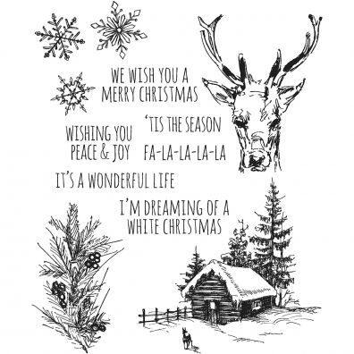 Tim Holtz Cling Stamps –- Scribble Woodland