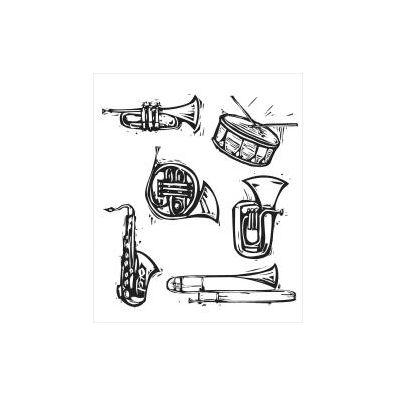 Tim Holtz Cling stempler - Carved Instrument