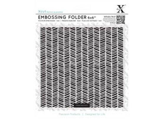 Xcut Embossingfolder Herringbone Pattern