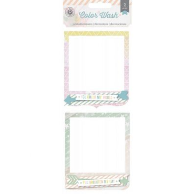Color Wash Frame Clusters - Pink Paislee