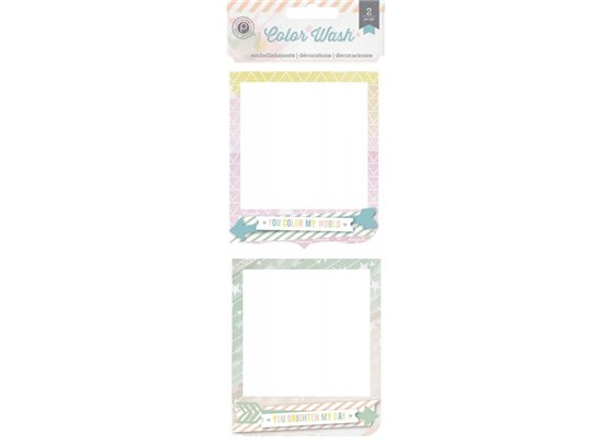 Color Wash Frame Clusters - Pink Paislee
