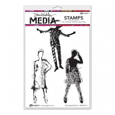 Dina Wakley Cling Stamp - Silhouetted Women