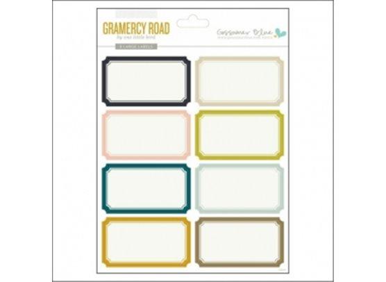 Gossamer Blue - Gramercy Road Large Label Stickers
