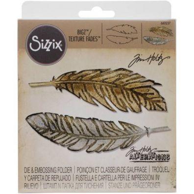 Tim Holtz Sizzix Bigz/ Texture Fades - Feather Duo