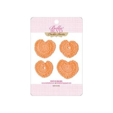 Bella Blvd Crochet Hearts - Orange Hearts