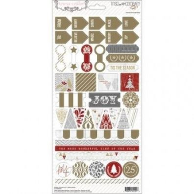 Teresa Collins Tinsel & Company - Decorative Stickers