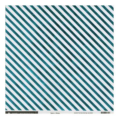 My Minds Eye Necessities Teals - Stripe Vellum paper