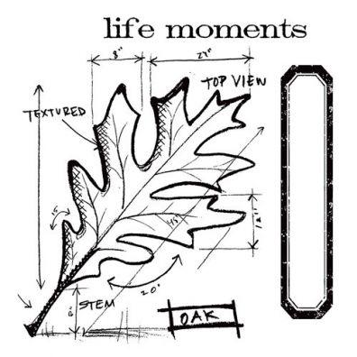 Tim Holtz Framelit/ stamp set - Leaf