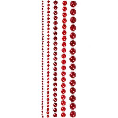 Halvperler røde 2-8 mm fra Vivi Gade