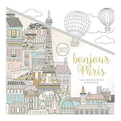Kaiser Craft Colouring Book – Bonjour Paris
